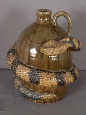 Michael & Melvin Crocker Snake Jug,