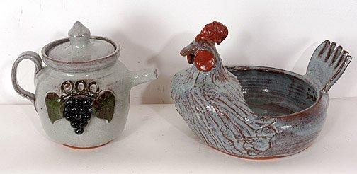 50: Michael Meaders Tea Pot & Rooster.
