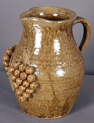 59: Edwin Meaders Grape Decorated Pitcher.