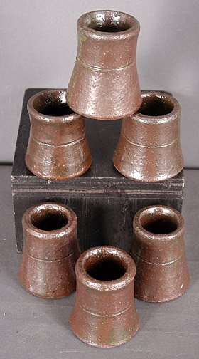 63: Lanier Meaders Six Toothpick Holders.