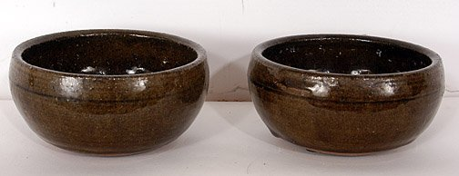 64: Lanier Meaders Two Ceramic Bowls.