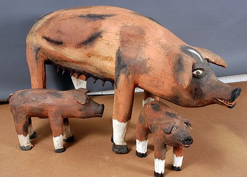 303: Felipe Archuleta Mother Pig & Piglets.