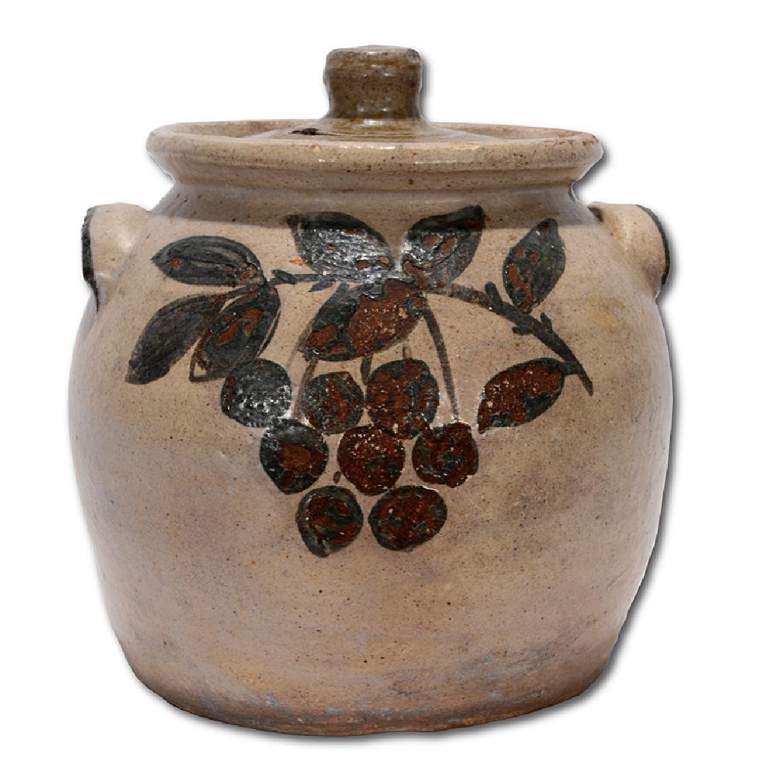 Arie Meaders. Bean Pot with Cherry Decorations.