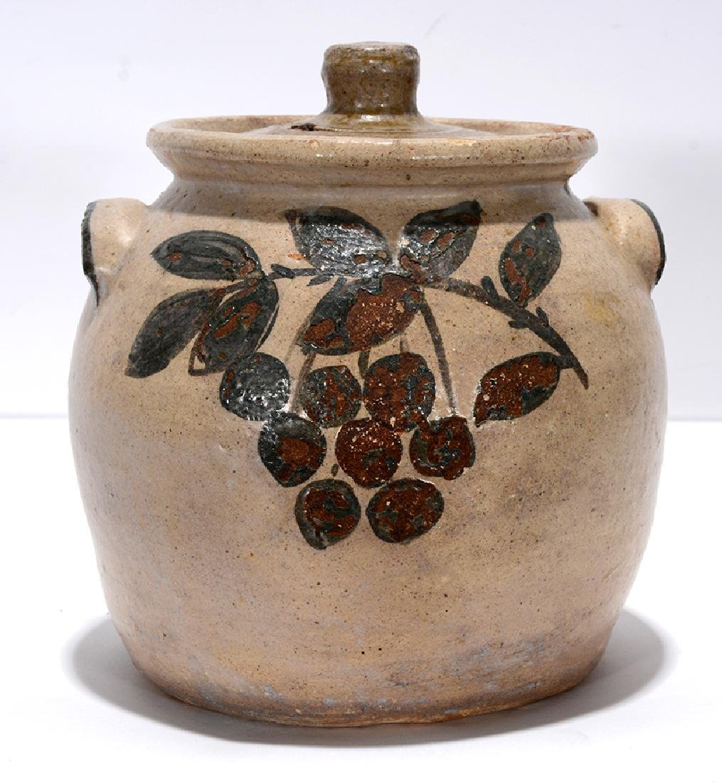 Arie Meaders. Bean Pot with Cherry Decorations. - 2