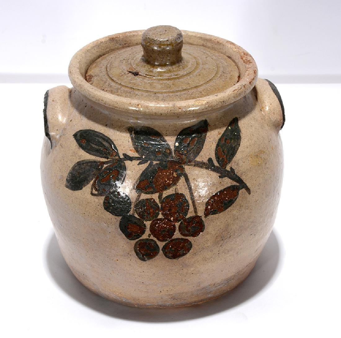 Arie Meaders. Bean Pot with Cherry Decorations. - 3