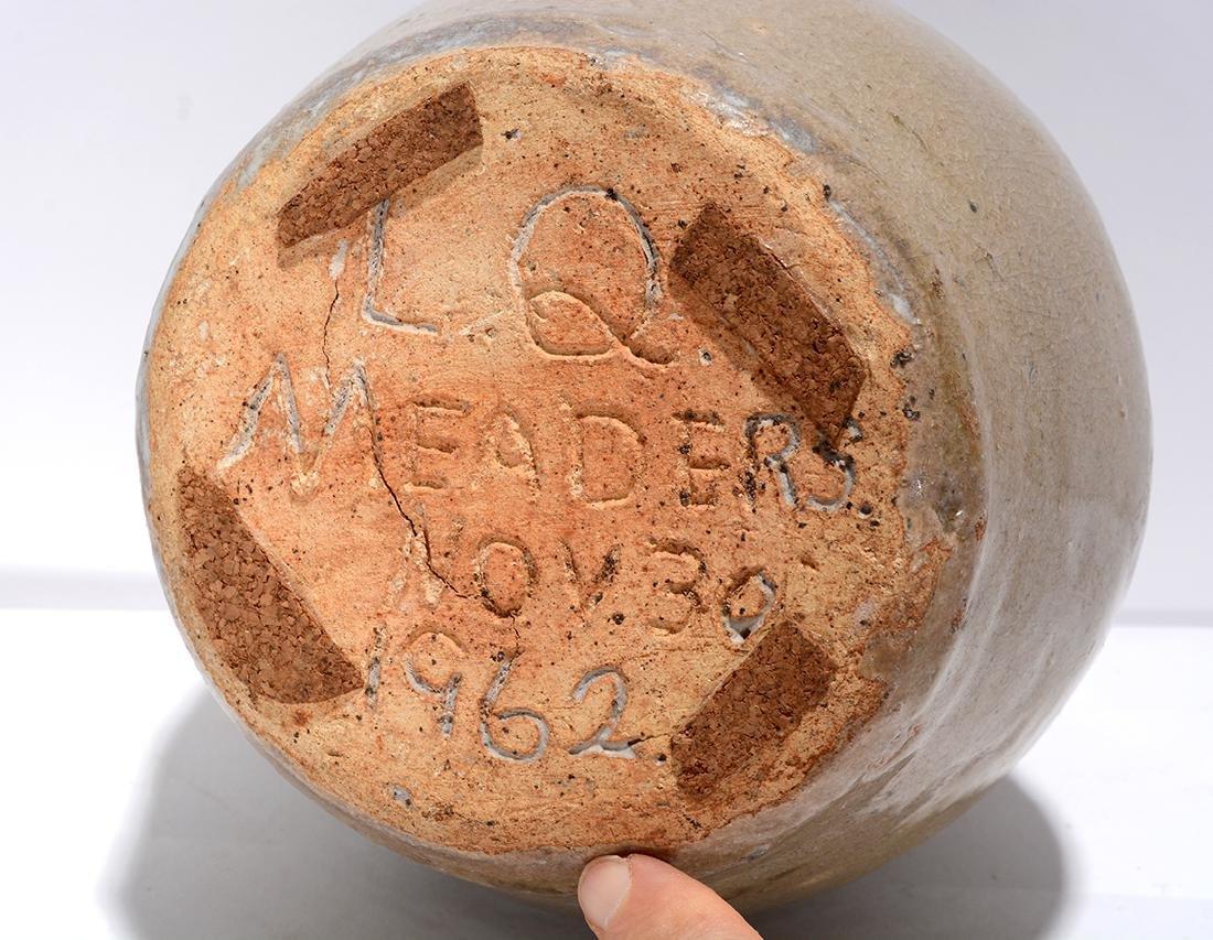 L.Q. Meaders. Bristol Glaze Pitcher. - 4