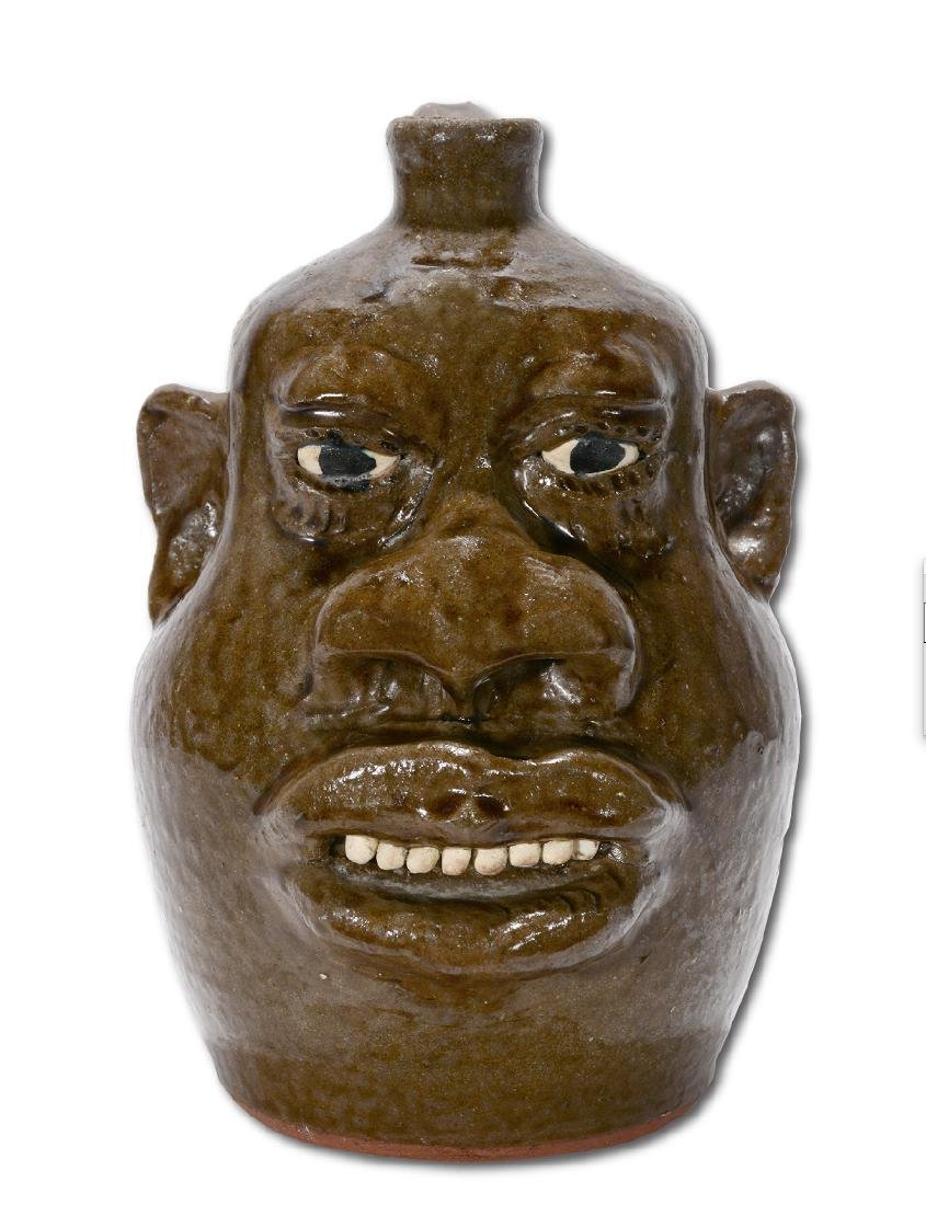 Lanier Meaders. Negro-Style Large Feature Face Jug. - 8