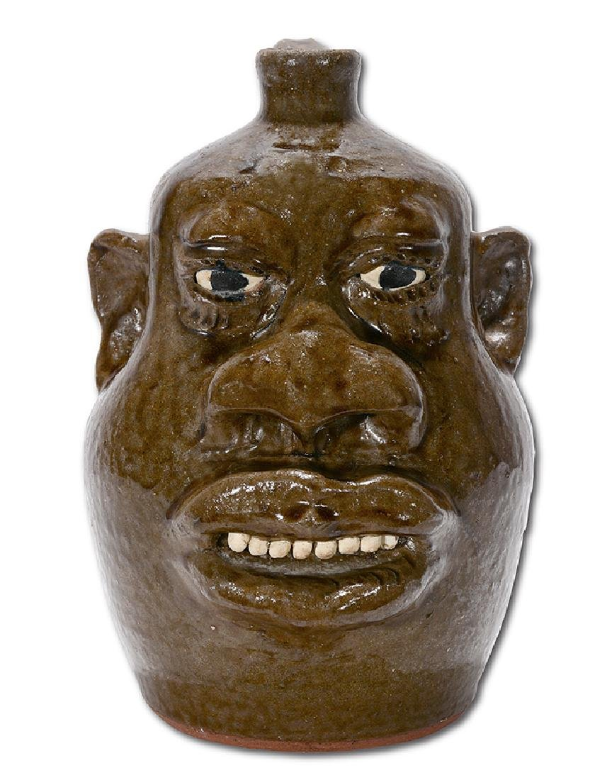 Lanier Meaders. Negro-Style Large Feature Face Jug.