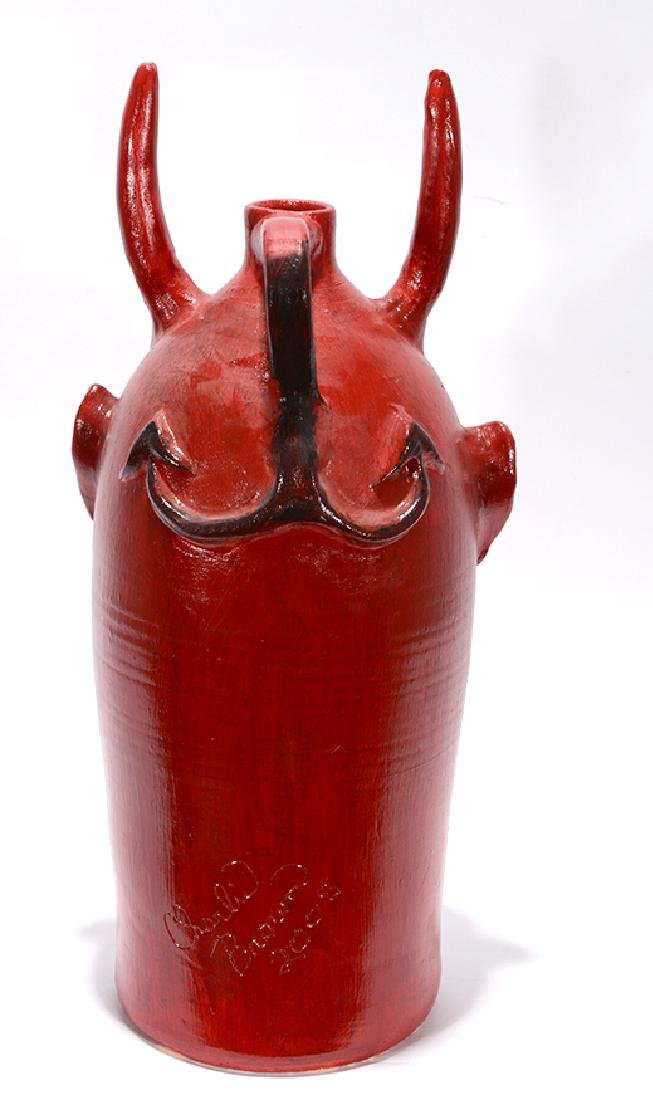 Charlie Brown. XL Five Gallon Red Devil Face Jug. - 4