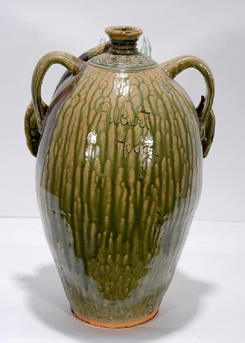 Albert Hodge. XL 5 Gallon Devil With Snake Face Jug. - 3