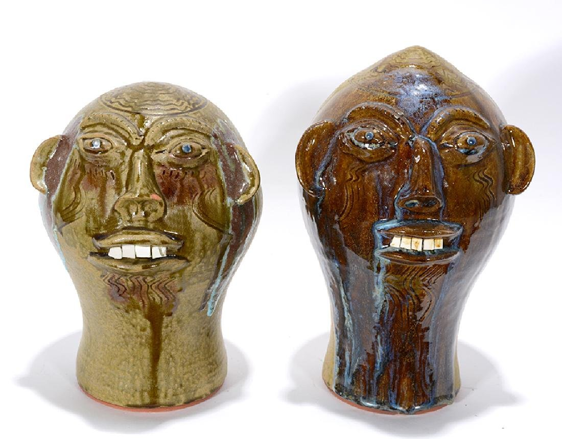Walter Fleming. Pair Of Wig Stands.