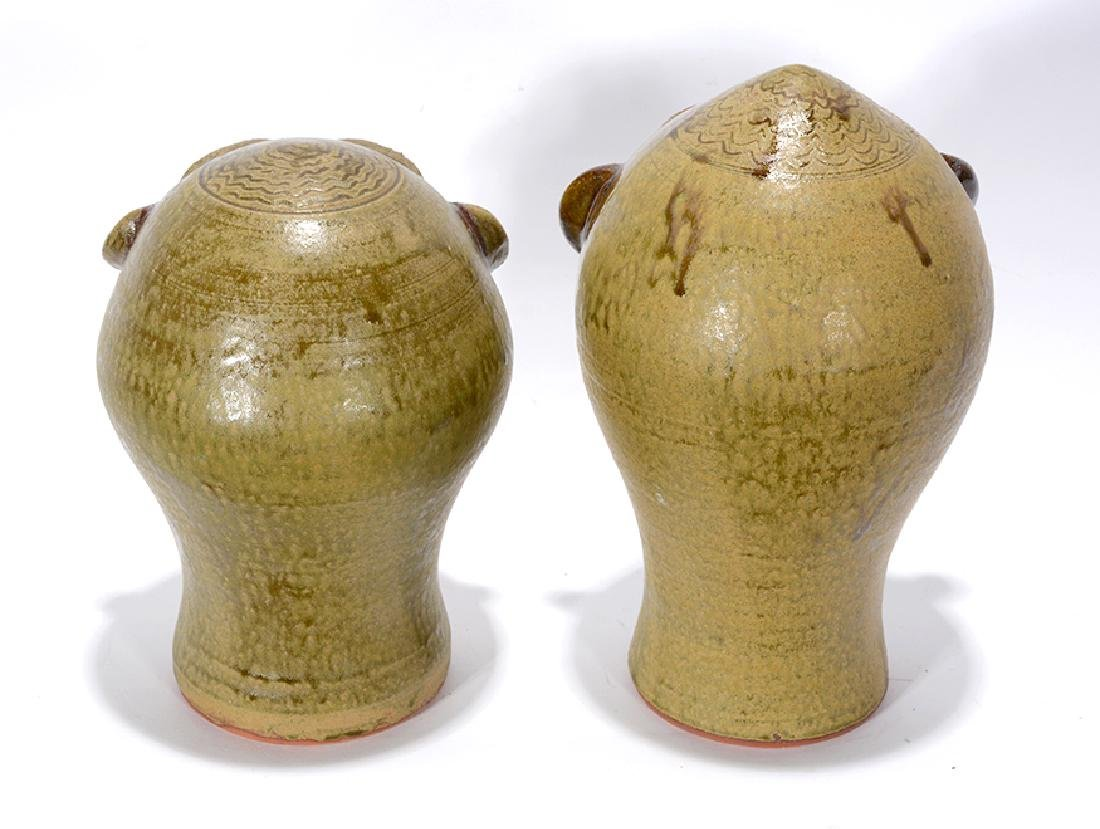 Walter Fleming. Pair Of Wig Stands. - 2