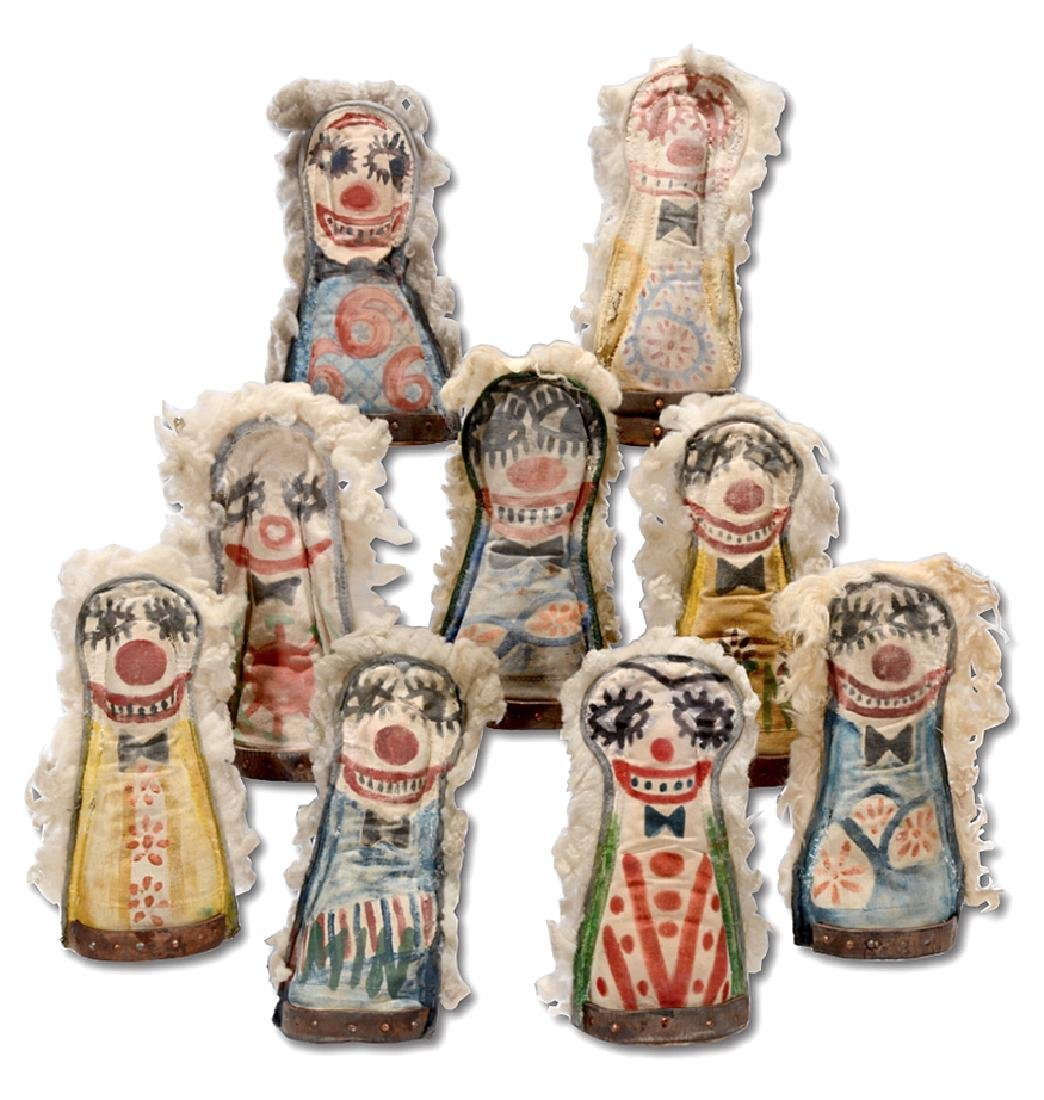 Nine Carnival Knockdown Punk Dolls.