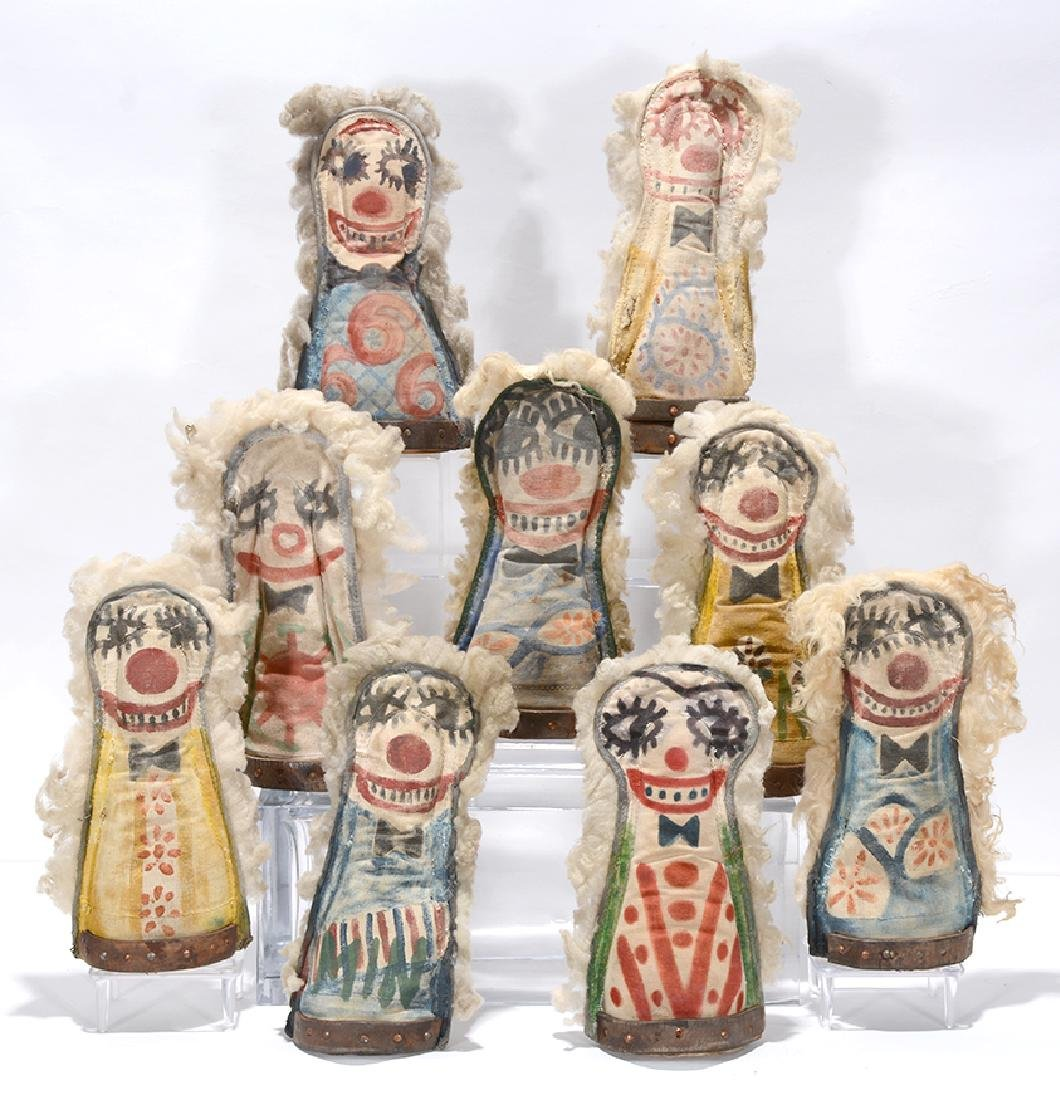Nine Carnival Knockdown Punk Dolls. - 2