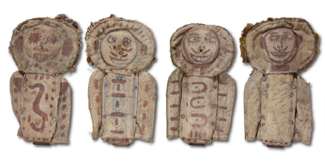 Four Early Carnival Knock Down Punk Dolls. - 6