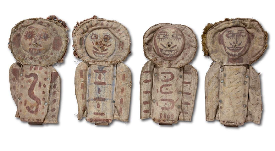 Four Early Carnival Knock Down Punk Dolls.