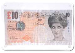 Banksy. Di-Faced Tenner, 10 GBP Note.