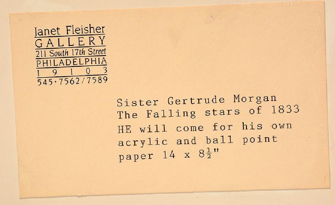 Sister Gertrude Morgan. The Falling Stars Of 1833 - 10