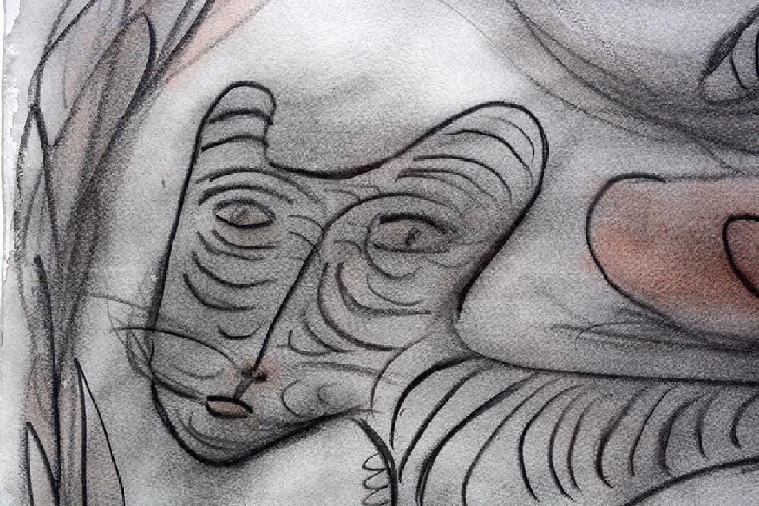 Thornton Dial. Portrait On Jungle Tiger. - 5