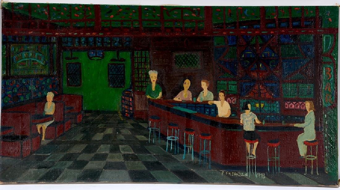Ralph Fasanella. Corner Bar.