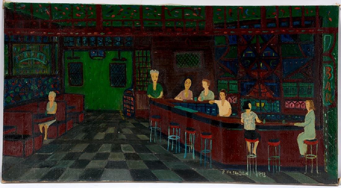 Ralph Fasanella. Corner Bar. - 2