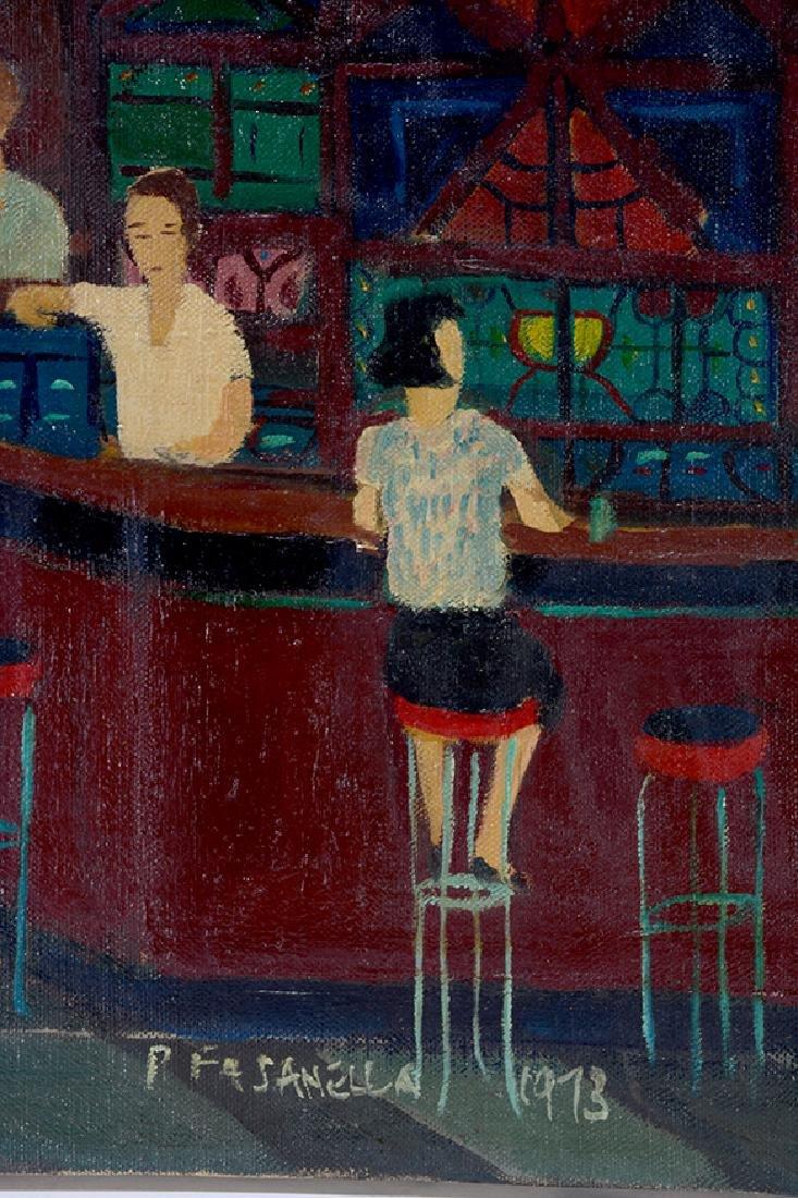 Ralph Fasanella. Corner Bar. - 3