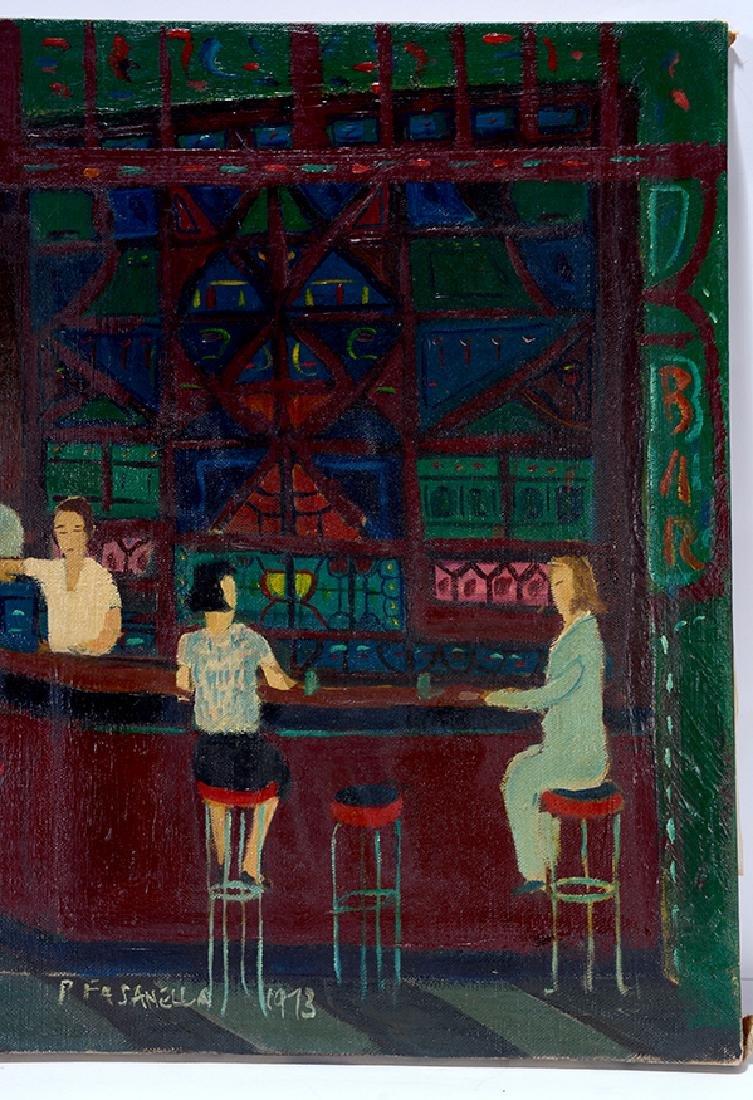 Ralph Fasanella. Corner Bar. - 4