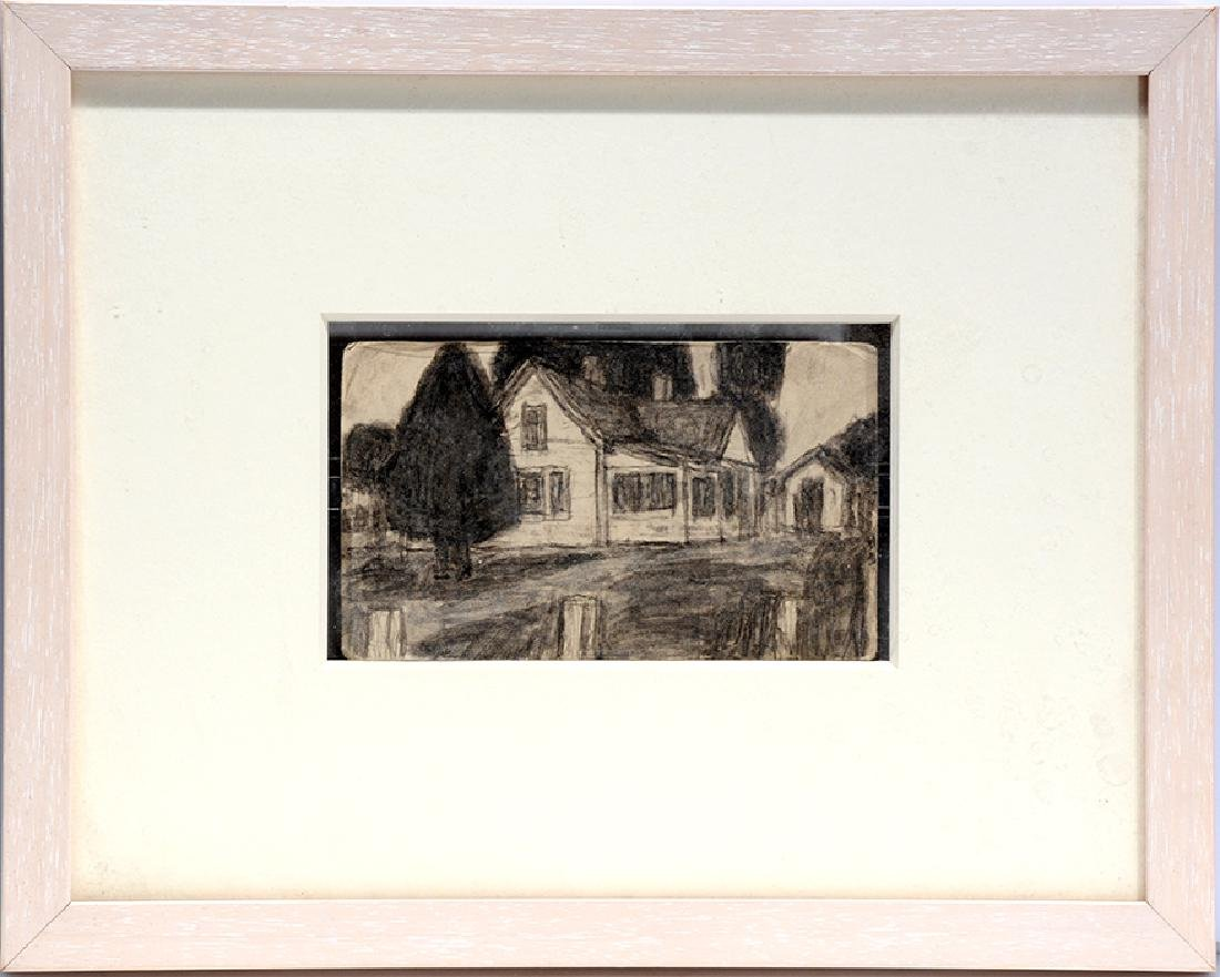 James Castle. Dbl-Sided House & Wood With Mountains. - 4