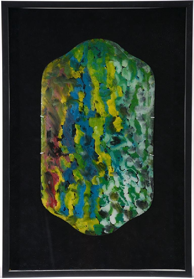 J.B. Murry. Colorful Spirits On Reverse Curved Glass.