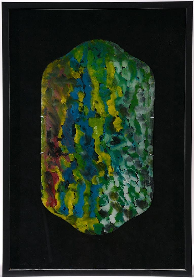 J.B. Murry. Colorful Spirits On Reverse Curved Glass. - 2