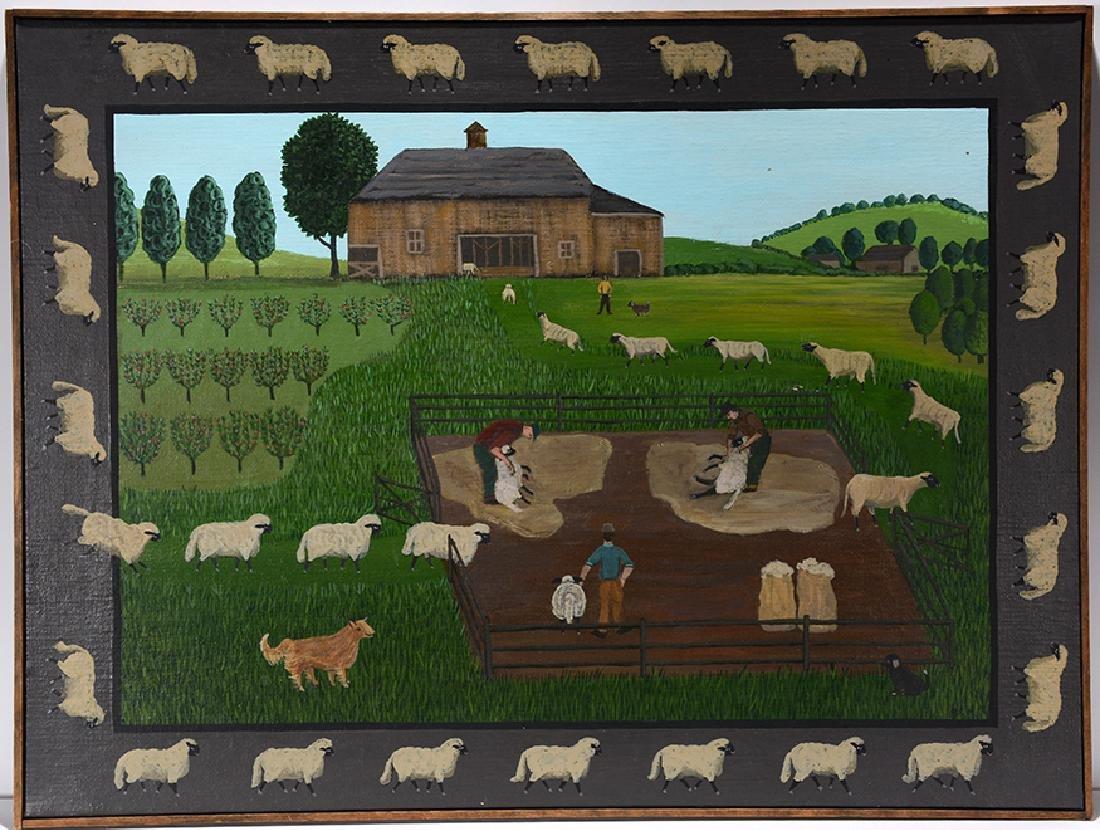 Barbara Moment. Sheep Shearing Day.