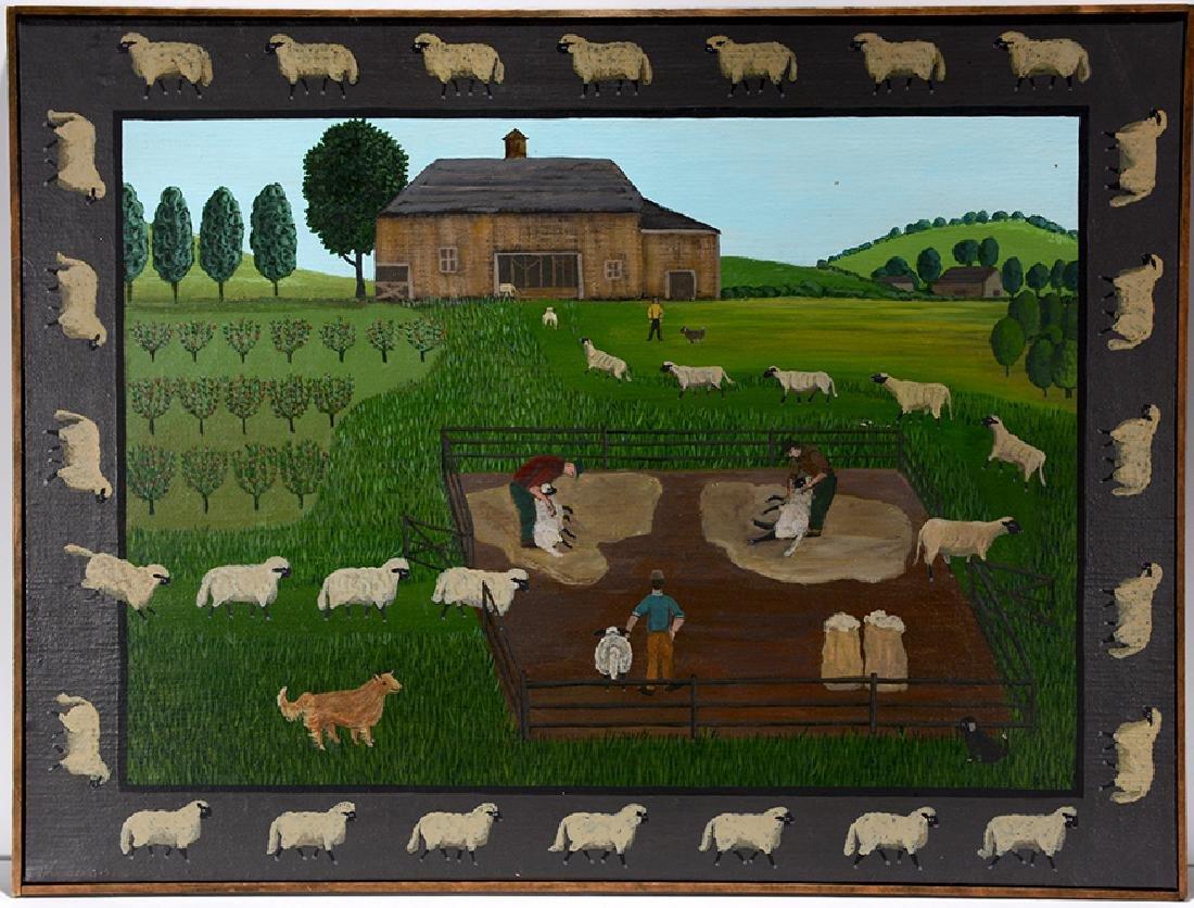 Barbara Moment. Sheep Shearing Day. - 2