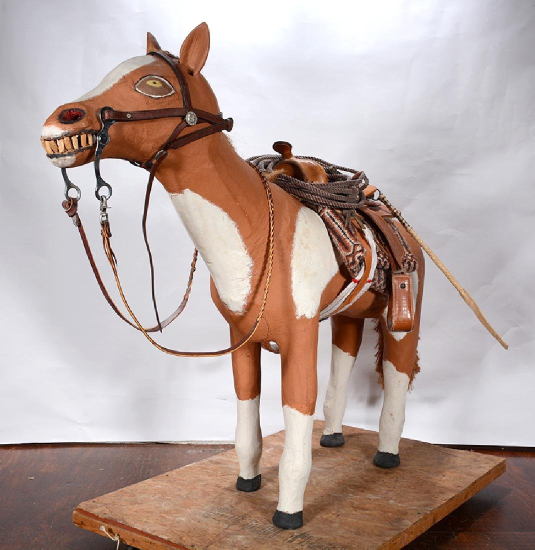 Leroy Archuleta. Large Horse With Saddle. - 10