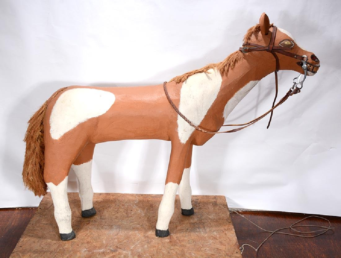 Leroy Archuleta. Large Horse With Saddle. - 2