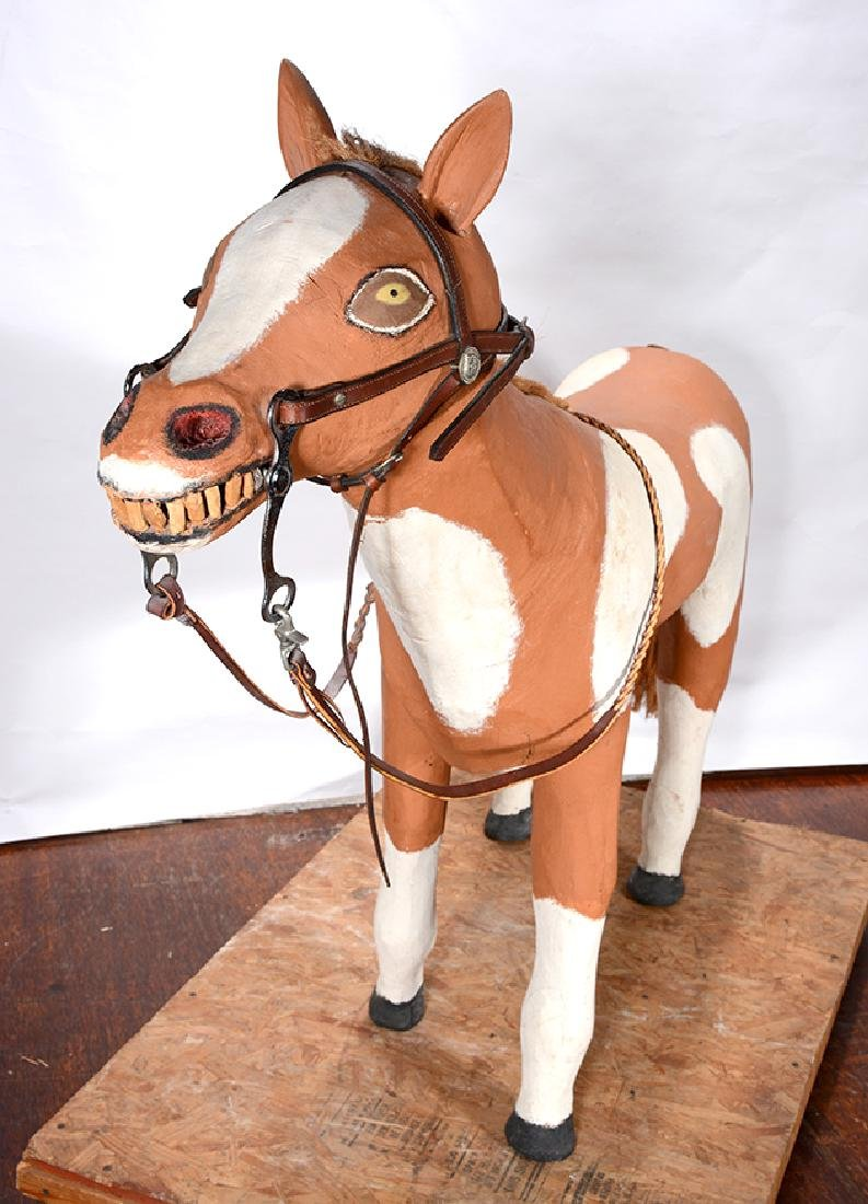 Leroy Archuleta. Large Horse With Saddle. - 5