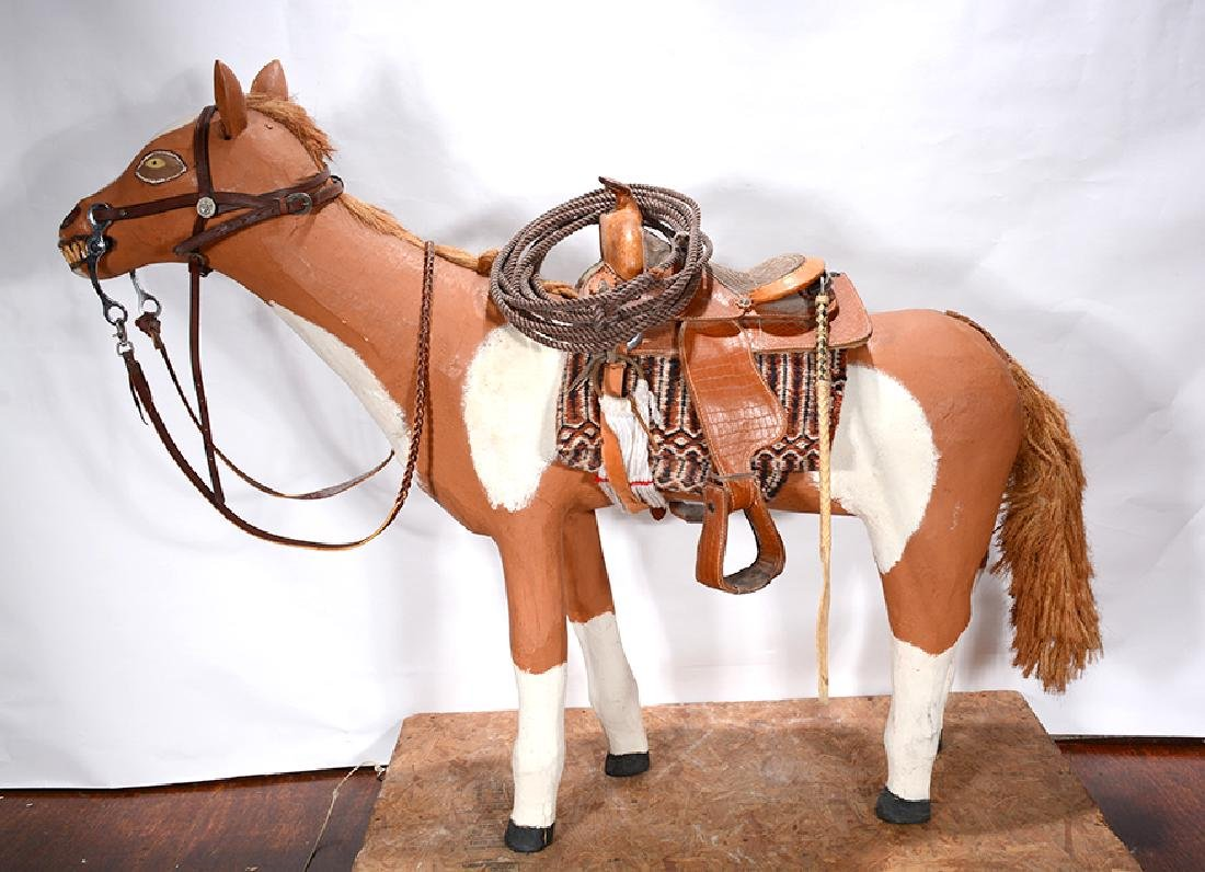 Leroy Archuleta. Large Horse With Saddle. - 9