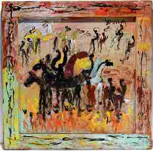 Purvis Young. Horses And Warriors.