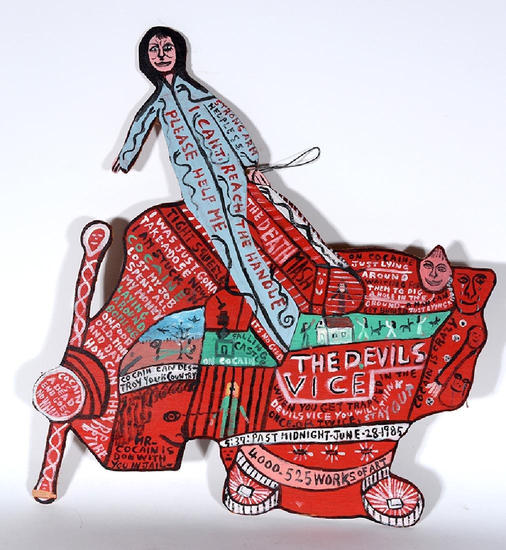 Howard Finster. The Devil's Vice. - 2