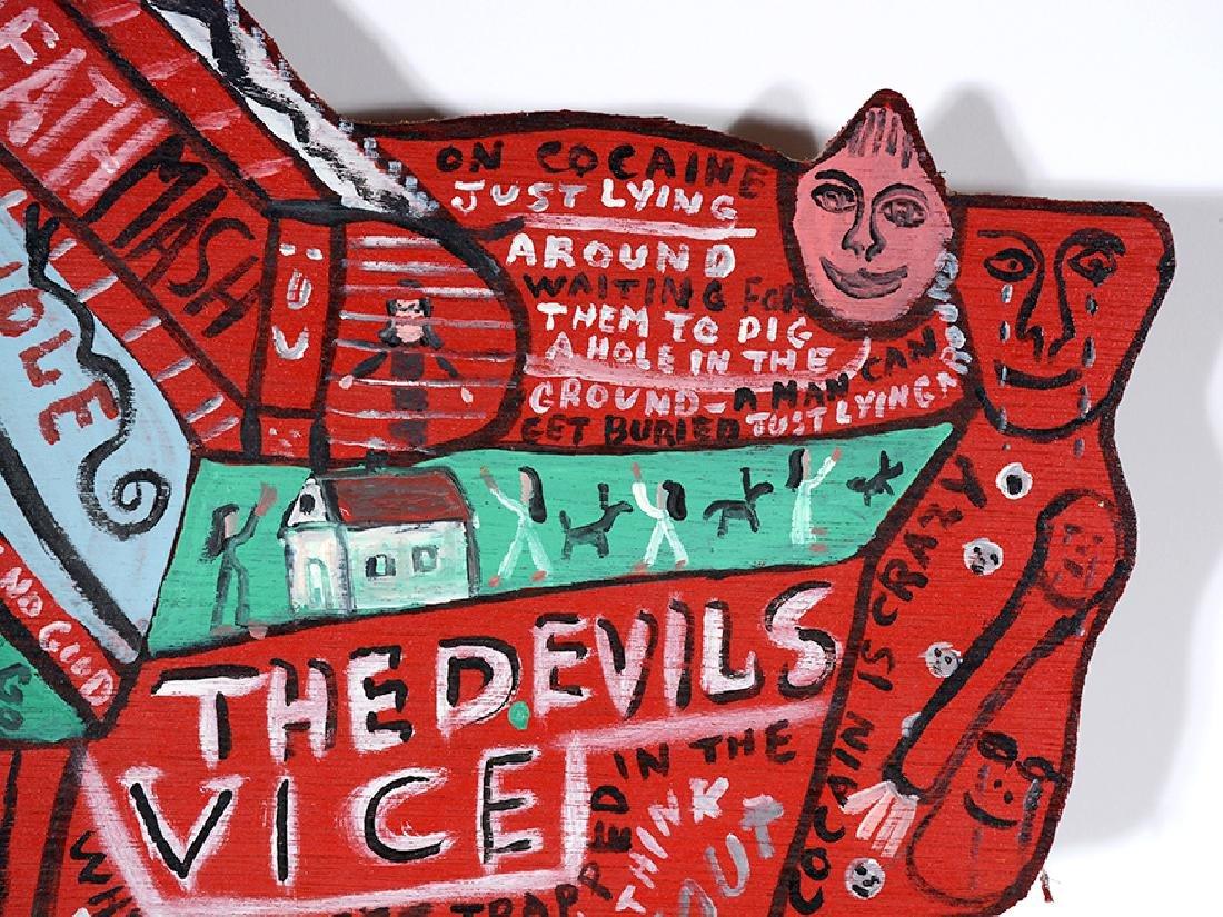 Howard Finster. The Devil's Vice. - 4