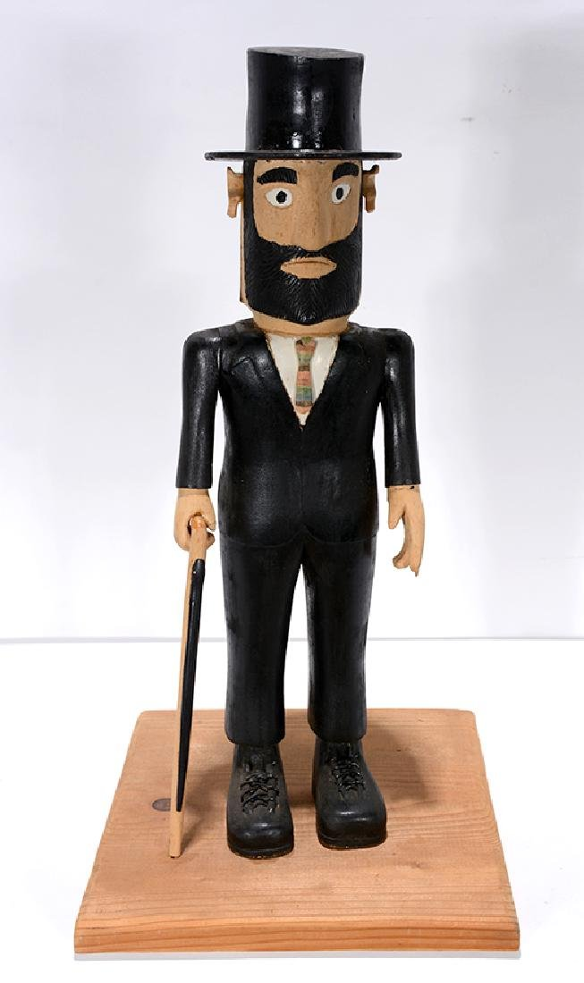 Earnest Patton. Abraham Lincoln with Folk Art Cane. - 2