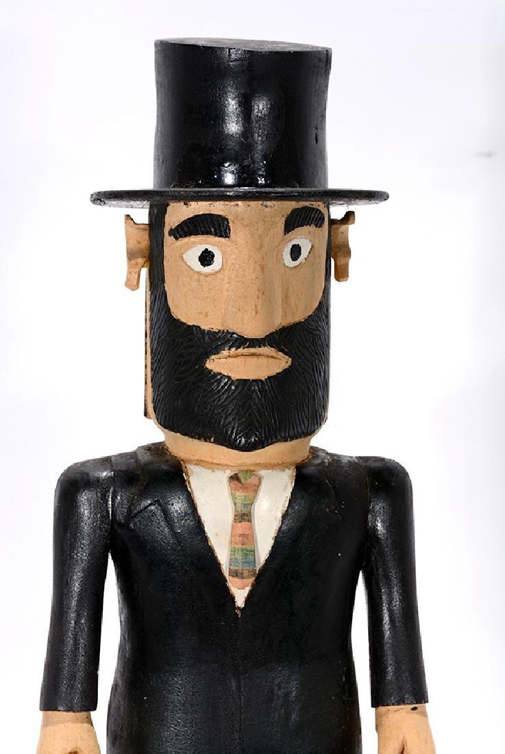Earnest Patton. Abraham Lincoln with Folk Art Cane. - 3