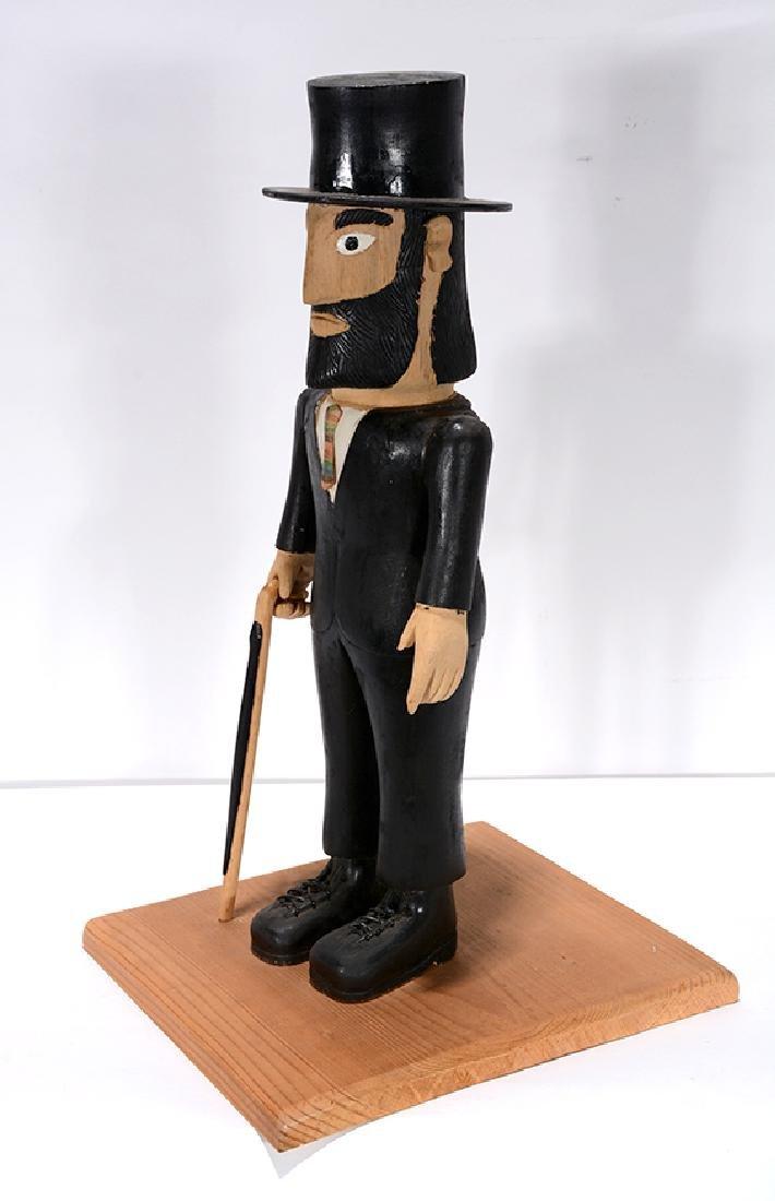 Earnest Patton. Abraham Lincoln with Folk Art Cane. - 4