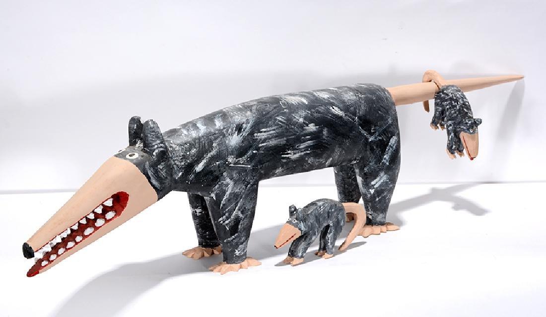 Minnie & Greg Adkins. Momma Possum With Babies. - 2