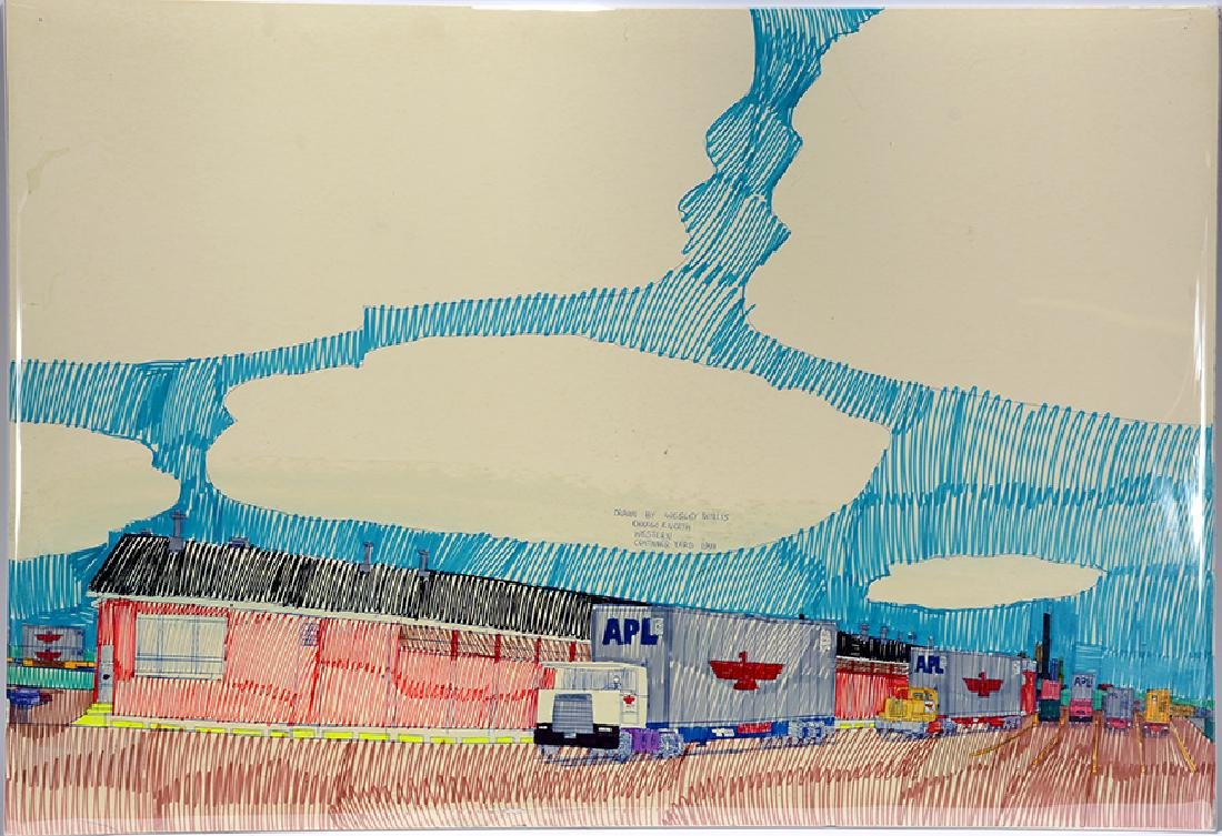 Wesley Willis. Chicago North Western Container Yard.