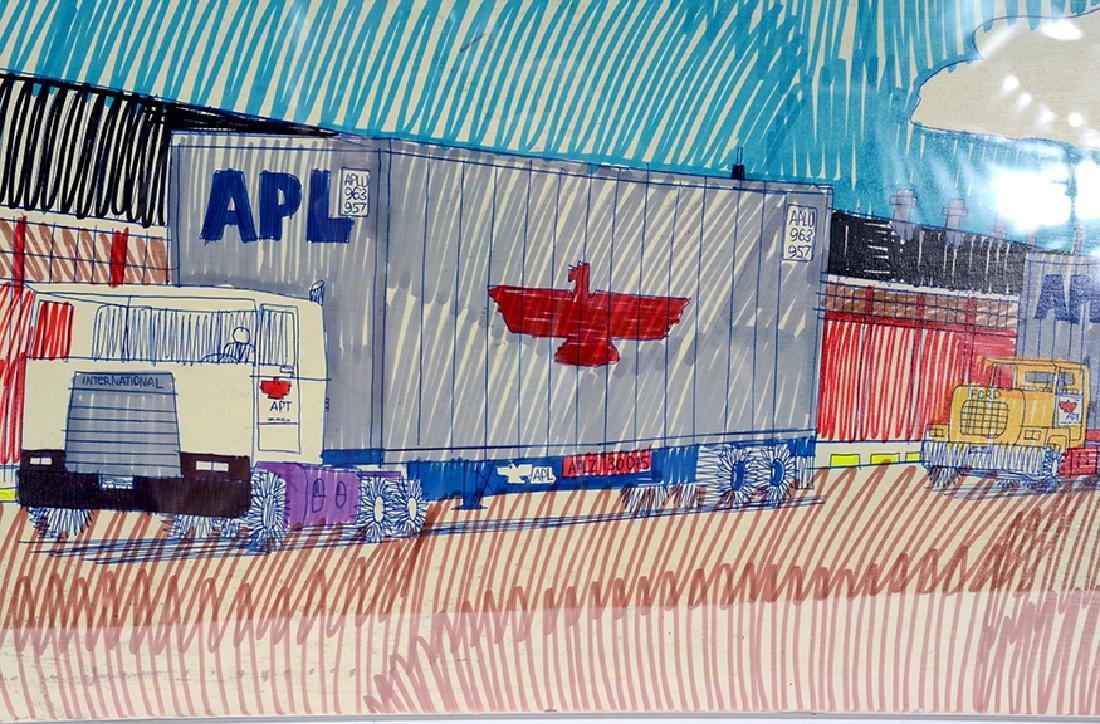 Wesley Willis. Chicago North Western Container Yard. - 2