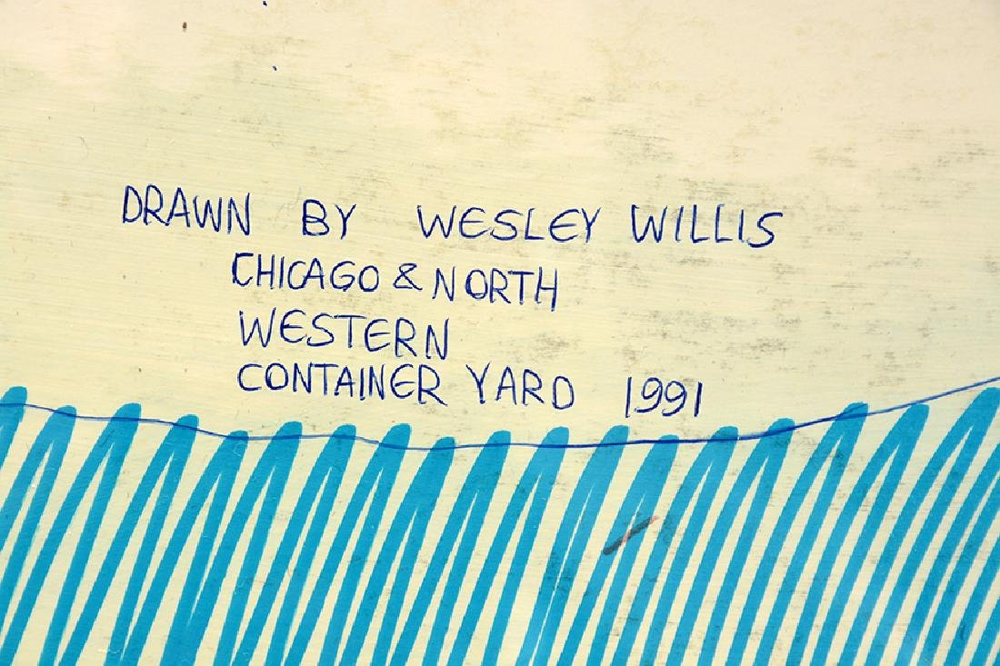 Wesley Willis. Chicago North Western Container Yard. - 3