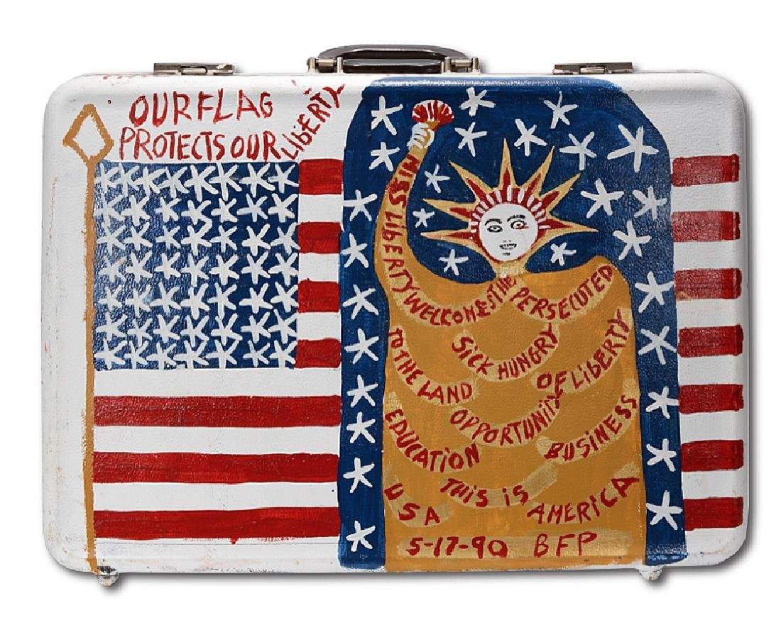 B.F. Perkins. Patriotic Suitcase.