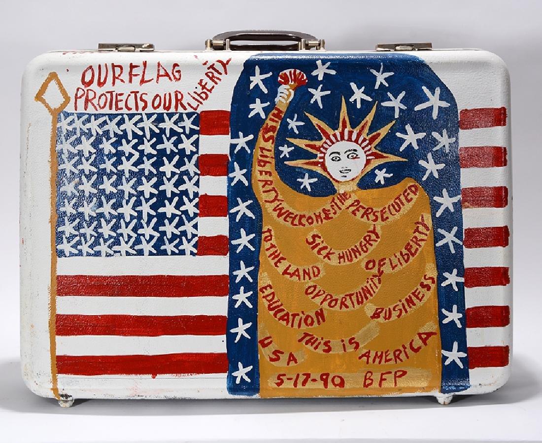 B.F. Perkins. Patriotic Suitcase. - 2