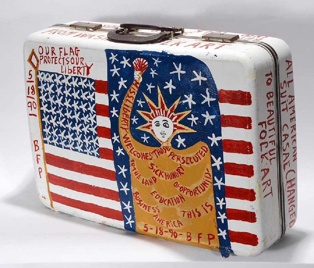 B.F. Perkins. Patriotic Suitcase. - 3