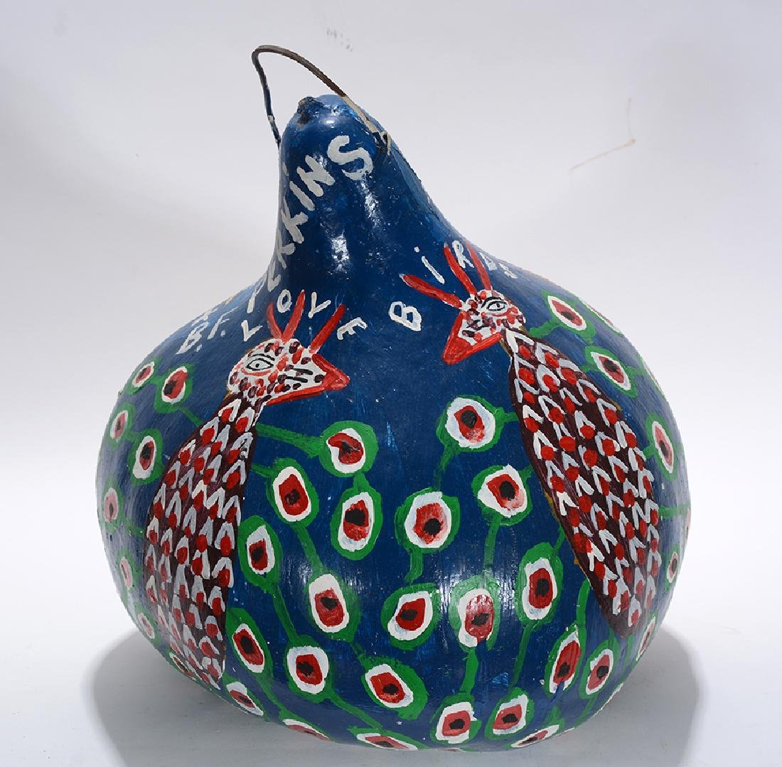 B.F. Perkins. Miss Liberty and Love Birds Gourd. - 2